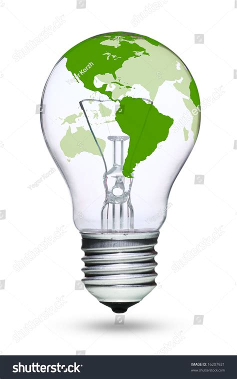 tungsten light bulbs for photography tungsten light green earth map stock photo 16207921