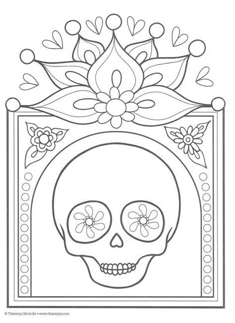 imagenes para colorear ofrendas dia muertos dibujos para colorear el d 237 a de los muertos 6 imagenes