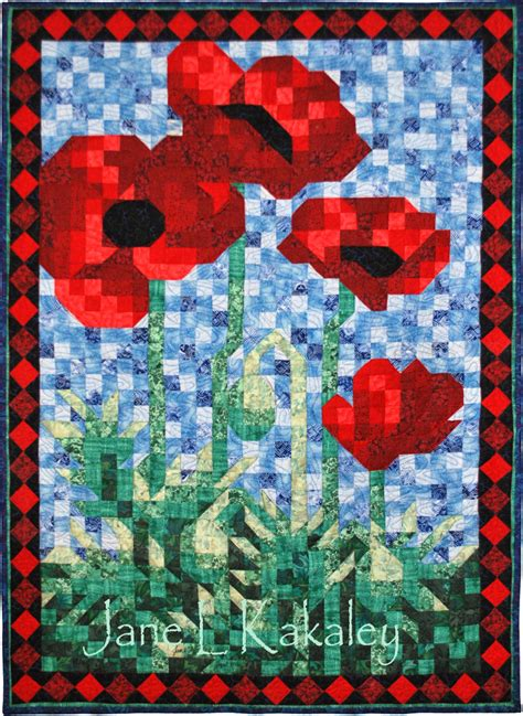 art quilt pattern quilt pattern pdf poppy mosaic art quilt pattern