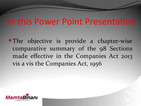 sections on the act comparative analysis 98 sections of cos act 2013