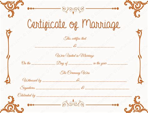 28 marriage certificate template traditional corner