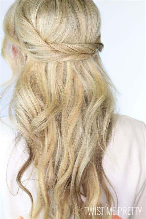 summer hairstyles hair up twisted together the prettiest half up half down