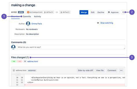 tutorial git atlassian learn about code review in bitbucket cloud atlassian git