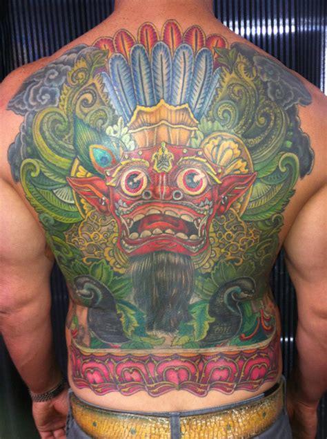 barong back tattoo tattoo tuesday no 218 senses lost
