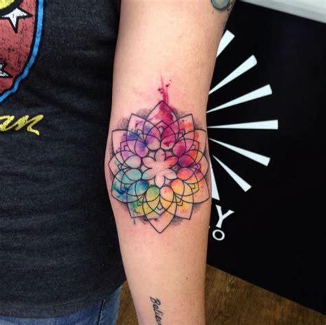 tattoo mandala colour 40 wonderful watercolor tattoos for women tattooblend