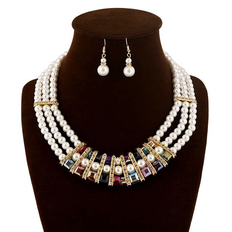 Costume Jewelry Accessories On A Budget by 2015 New Fashion Imitation Pearl Necklace Cheap Pearl