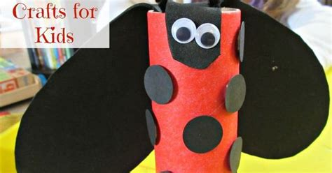 Ladybug Toilet Paper Roll Craft - easy toilet paper roll ladybug crafts for ladybug