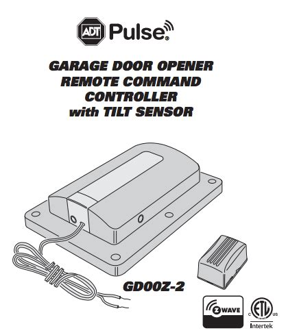 z wave garage door controller adt pulse garage door remote controller z wave by linear gd00z