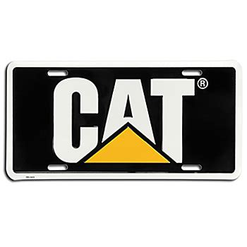 Cat Ct01 Black ring power merchandise store cat license plate black
