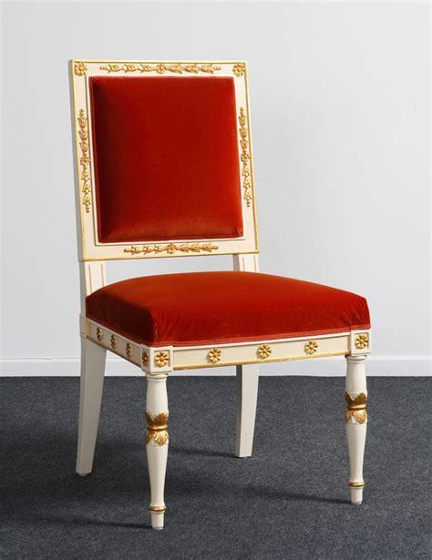 chaise empire balzarotti cr 233 ateur de meubles et si 232 ges 187 chaise style