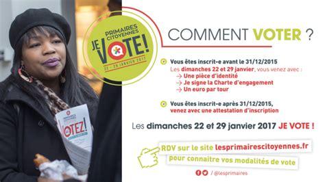 bureau d騁ude les primaires citoyennes on vote aujourd hui o 249 et
