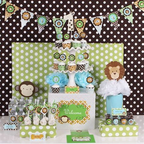 Baby Shower Decorations Kits by Jungle Safari Baby Shower Kit