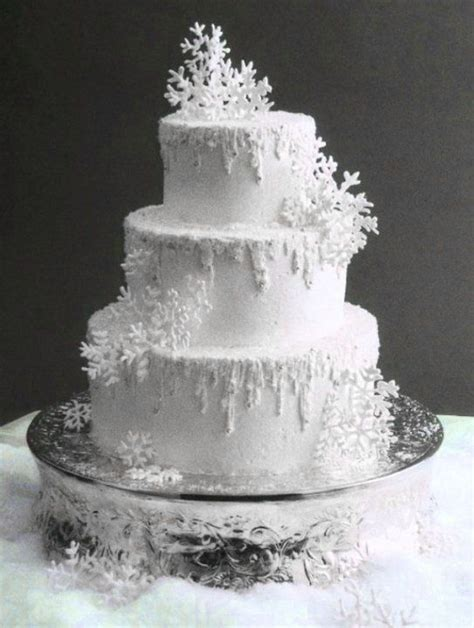 Winter Wedding Cakes by Snowflake Winter Wedding Cake Beautiful