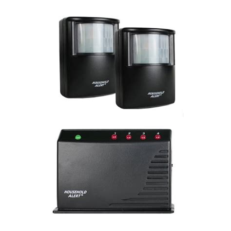 2 sensor wireless motion alert alarm security system