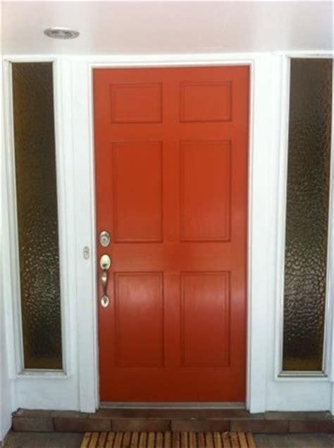 orange front door burnt orange front door