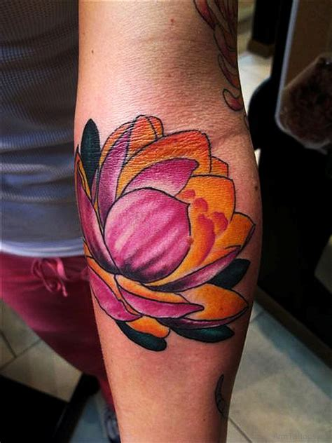 lotus flowers tattoo 55 great looking lotus tattoos on arm