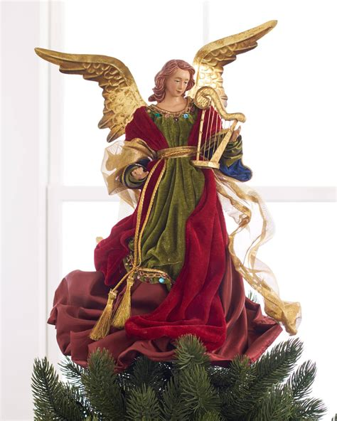 motorized angel tree topper wings head and arms move tree topper balsam hill