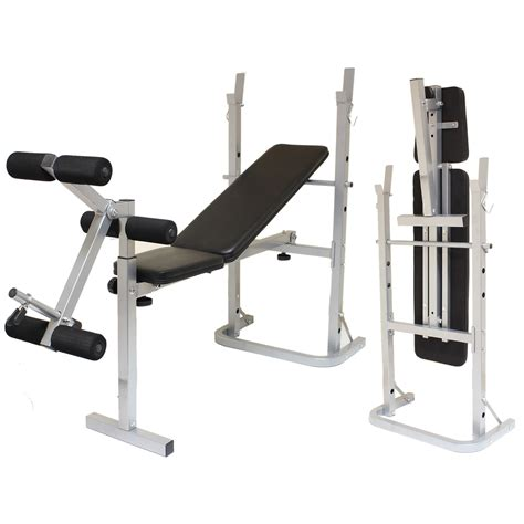 folding bench press weight set folding weight bench home gym exercise lift lifting chest