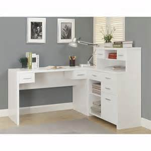 White Corner Desks For Home Office Kayla White Corner Desk Office Desks Home Office Furniture