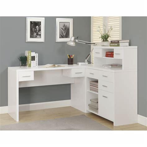Kayla White Corner Desk Office Desks Home Office Furniture White Corner Desk