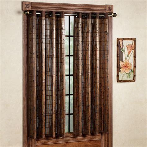 bamboo drapes window treatments