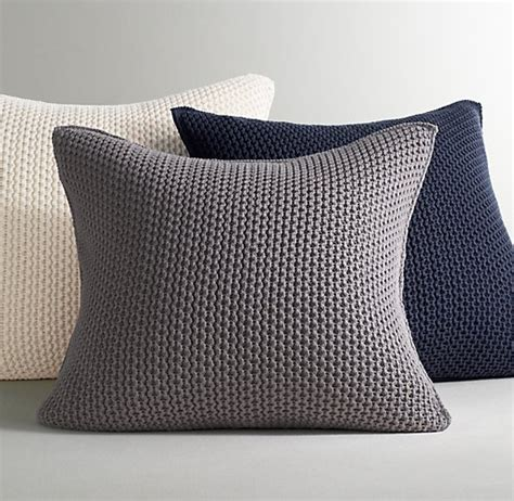 knitted pillow covers chunky cotton knit pillow cover