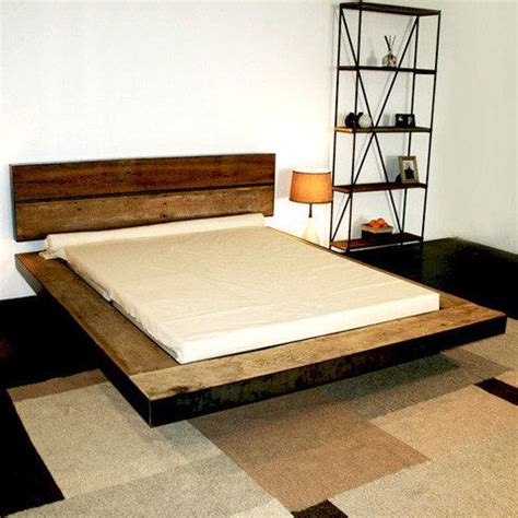 Floating Bed Frames Reclaimed Barnwood Platform Bed Durable Hardwoods 100 Years 1 950 00 Via Etsy