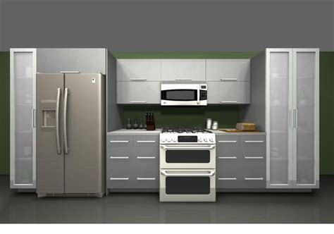 metal kitchen cabinets ikea use ikea rubrik stainless steel cabinet over fridge and