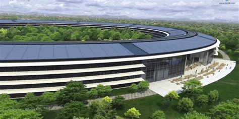 new apple headquarters aerial video of apple spaceship cus business insider