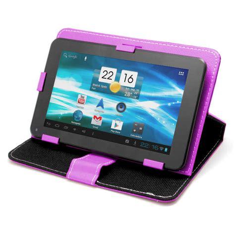 fundas tablet funda universal morada para tablet pc 7 quot con soporte funda