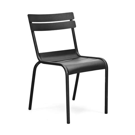Galvanized Bistro Chair Massima Black Indoor Outdoor Galvanized Side Chair Tablebasedepot