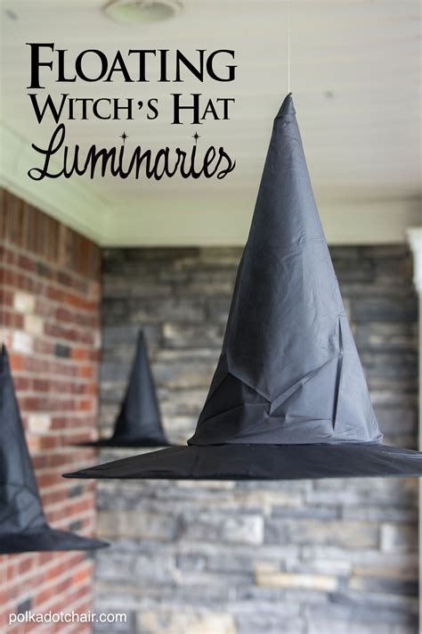 hats with lights on them diy floating witch hat luminaries