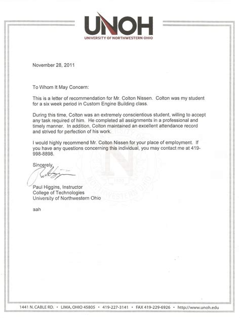 Letter Of Recommendation Upon Request letters of recommendation