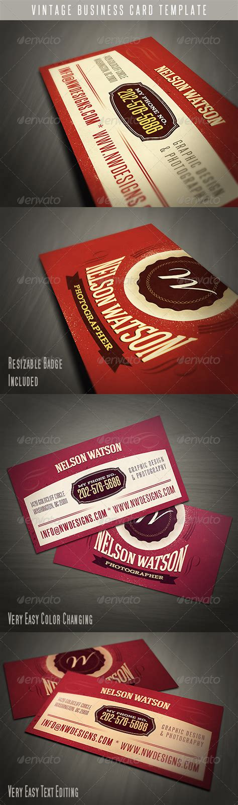 vintage business card template vintage business card template by vilord graphicriver