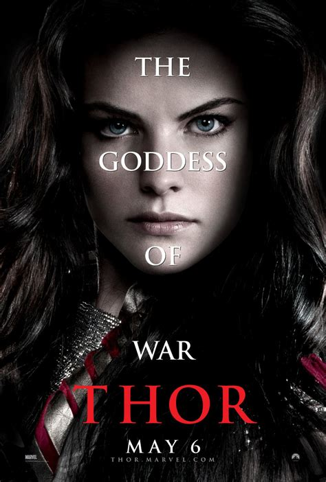 thor movie parts thor poster jaimie alexander as sif moviesonline
