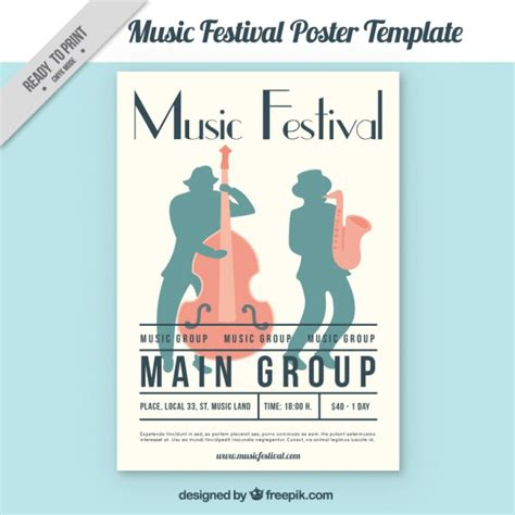 festival poster template free festival poster template vector free