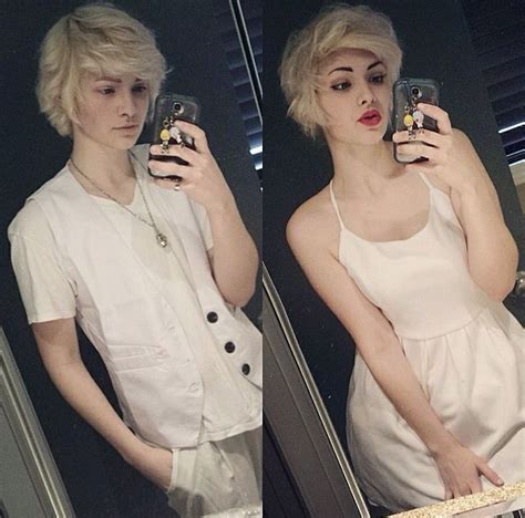 pics of genderfluid people gorgeous coyotekisses showing off gender fluid cuteness
