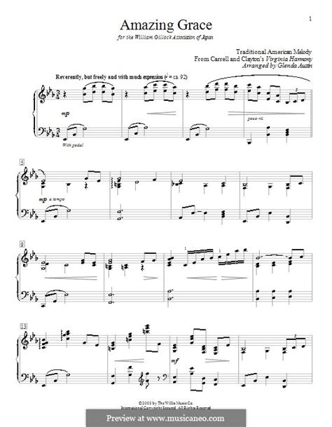 printable version of amazing grace amazing grace printable scores by folklore sheet music