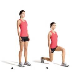 lunge for maximum results eat drink be skinny
