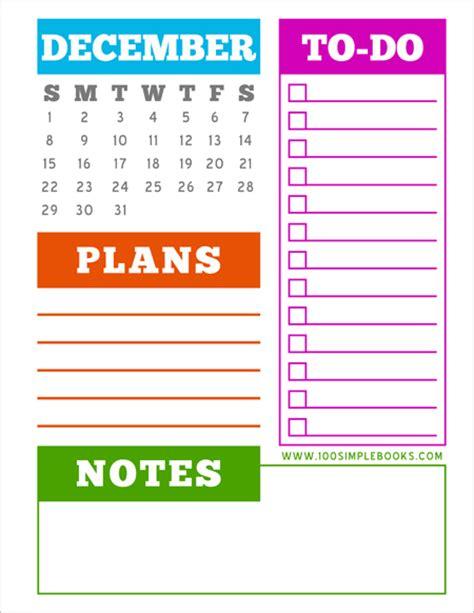 printable monthly planner december 2013 december 2013 monthly planner printable 100 simple books