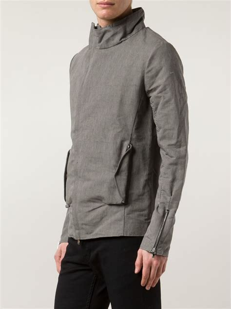 Stand Up Collar Jacket incarnation stand up collar jacket in gray for grey