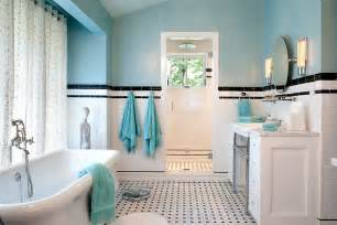 black and white bathroom accent color 25 bathrooms that beat the winter blues with a splash of