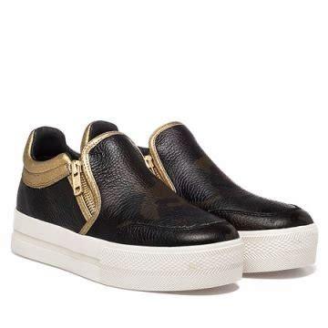 Sneaker Wedges Krem bowie suede and canvas wedge sneaker ayakkab箟 krem