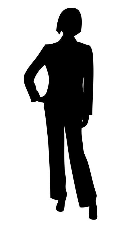 free clipart silhouette business silhouette clipart free stock photo