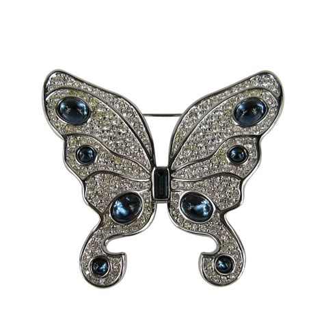 Bros Butterfly Swarosky 1980s swarovski stunning butterfly brooch new stock for sale at 1stdibs