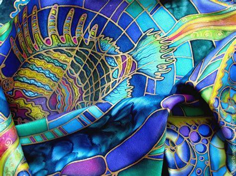 Tutorial Segiempat Batikascarf Original batik scarf quot fish quot shop on livemaster with shipping 19swbcom yaroslavl