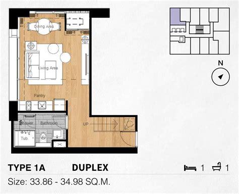 2 Bedroom Plans 1 Bedroom Unit Plans Siamese Sukhumvit Bangkok Condos