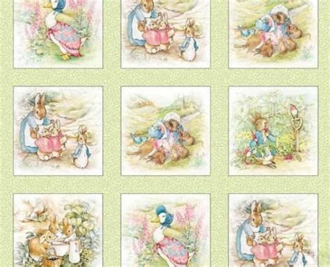 Rabbit Quilt Fabric by Beatrix Potter Fabric Rabbit Quilt Blocks 4