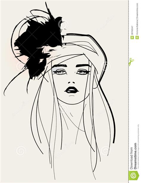 fashion illustration drawing faces fashion model royalty free stock photography image