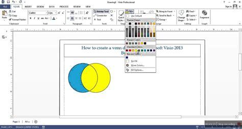 how to create venn diagram how to create a venn diagram in microsoft visio 2013